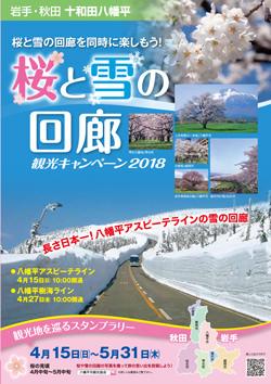 桜と雪の回廊キャンペーンパンフレット